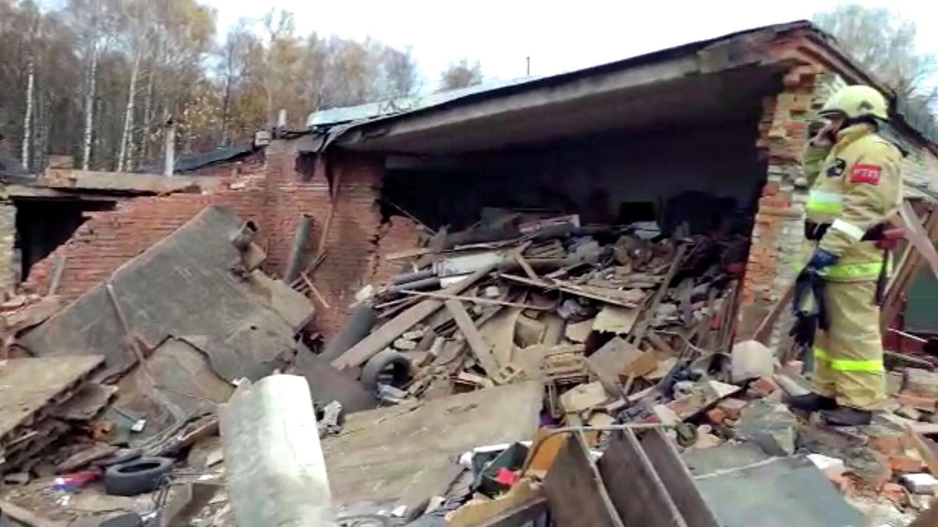 На месте взрыва в гаражном кооперативе в Мытищах - РИА Новости, 1920, 01.11.2020