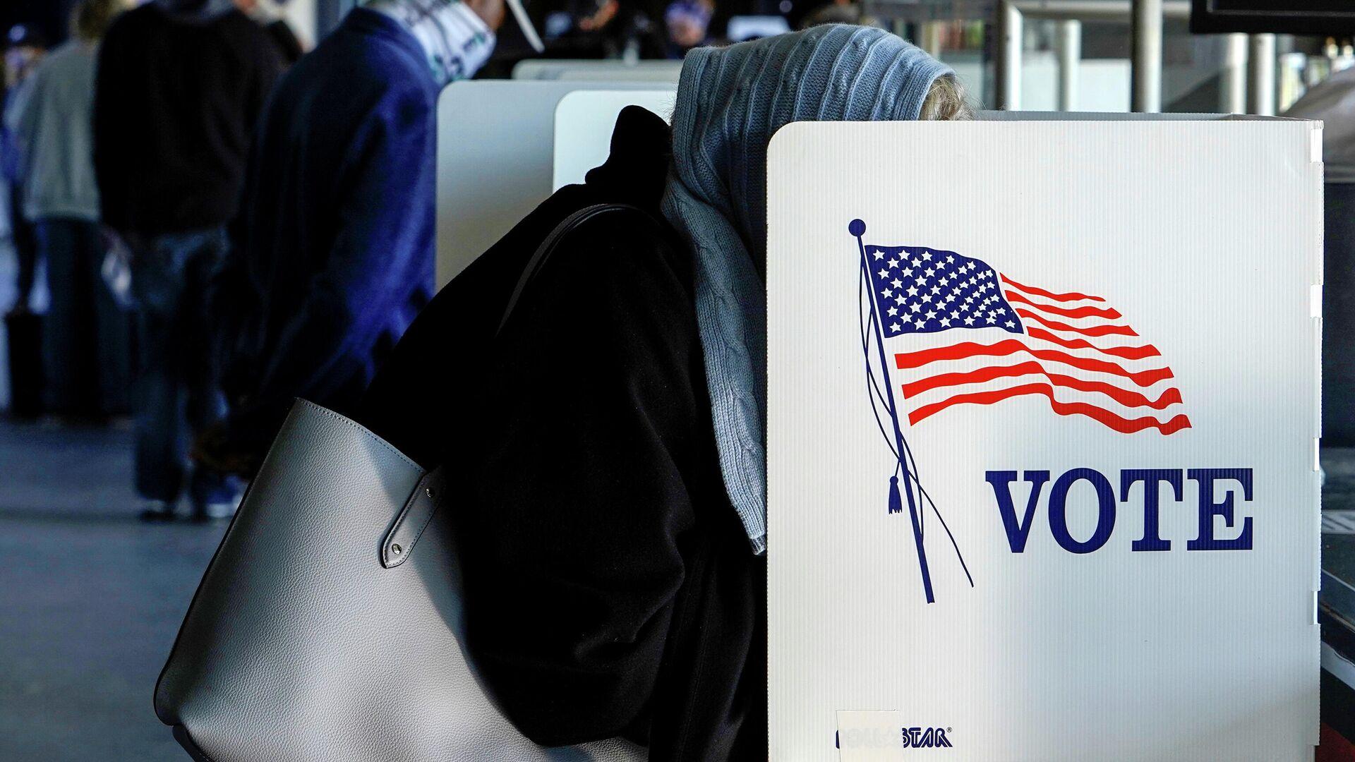 Досрочное голосование в Талсе, штат Оклахома, США. 30 октября 2020 года - РИА Новости, 1920, 03.11.2020