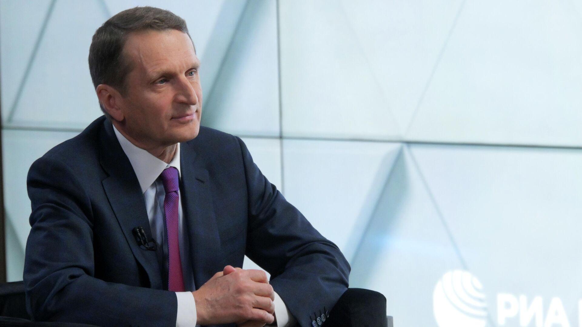 Нарышкин рассказал о работе Путина с информацией от разведки