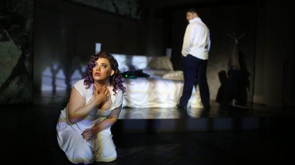 Сцена из оперы Замок герцога Синяя Борода