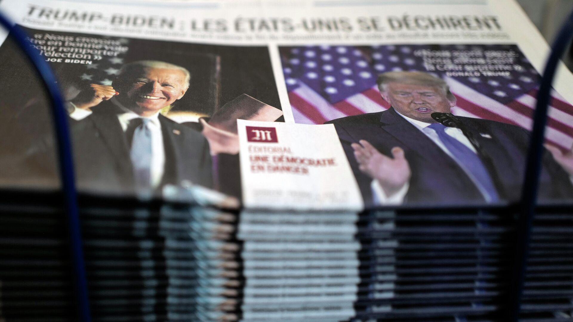 Первая страница газеты о президентских выборах в США - РИА Новости, 1920, 06.11.2020
