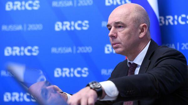 Министр финансов РФ Антон Силуанов во время встречи министров финансов и управляющих центральных банков стран БРИКС