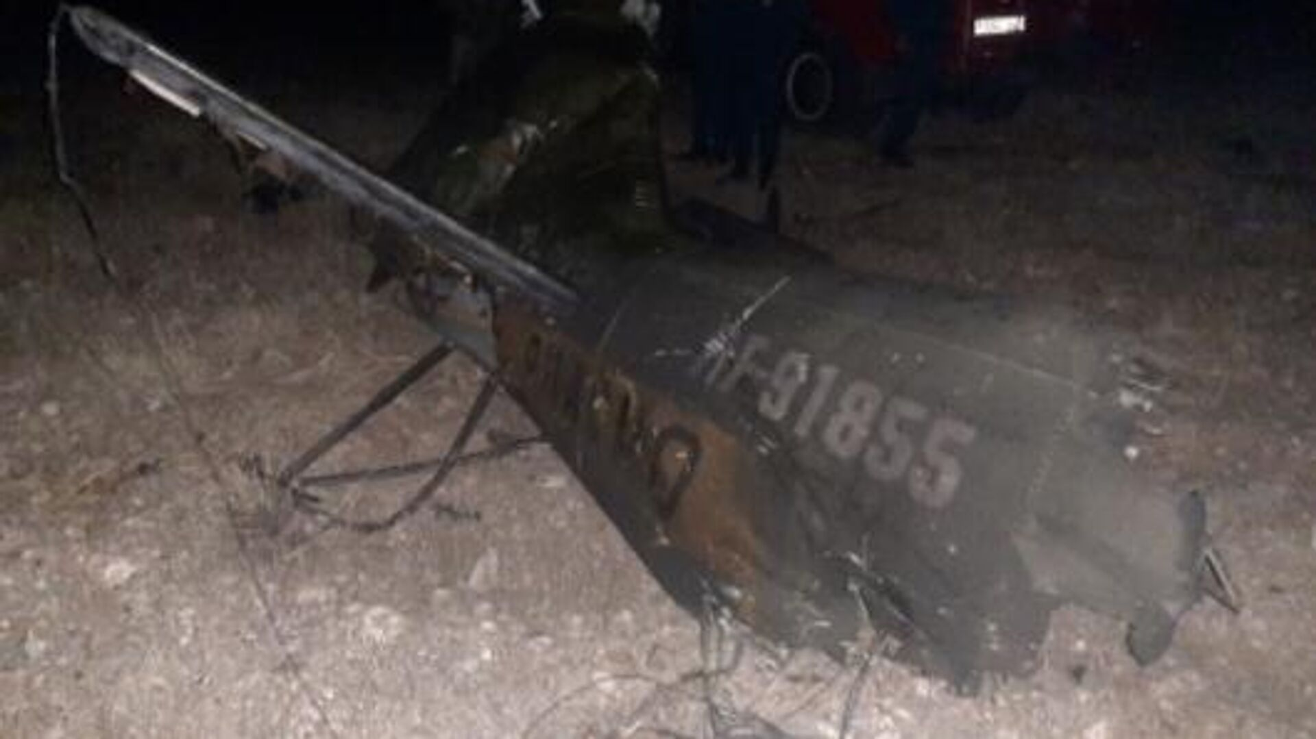 Обломки российского вертолета Ми-24, сбитого в воздушном пространстве над территорией Армении - РИА Новости, 1920, 10.11.2020