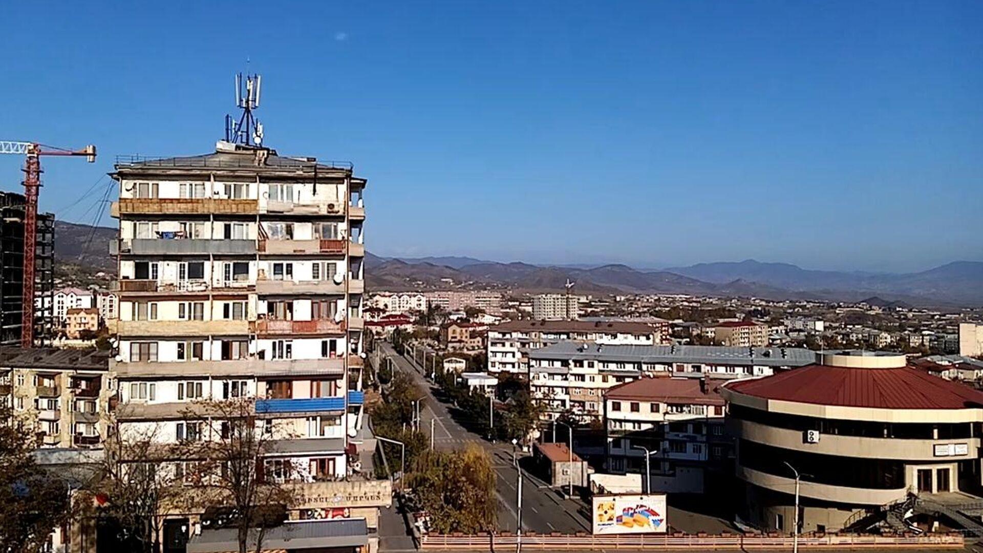 Город Степанакерт утром 10 ноября 2020 года - РИА Новости, 1920, 25.11.2020