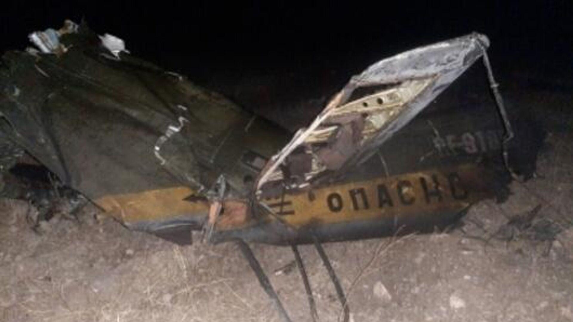 Обломки российского вертолета Ми-24, сбитого в воздушном пространстве над территорией Армении вне зоны боевых действий - РИА Новости, 1920, 13.11.2020