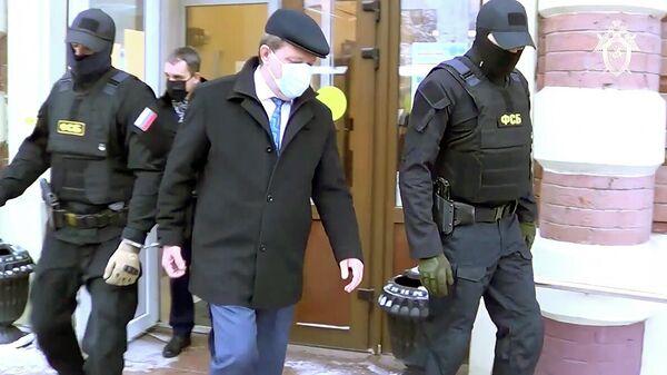Задержание мэра Томска Ивана Кляйна. Кадр видео