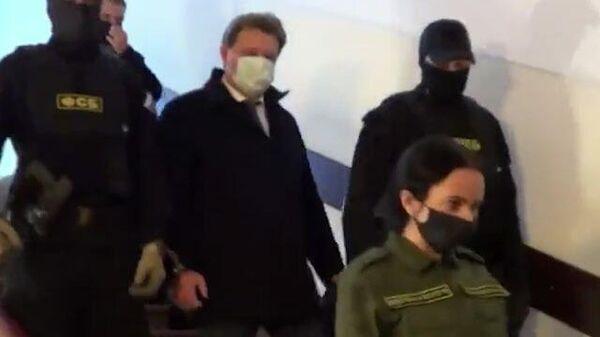 Кадры задержания мэра Томска Ивана Кляйна