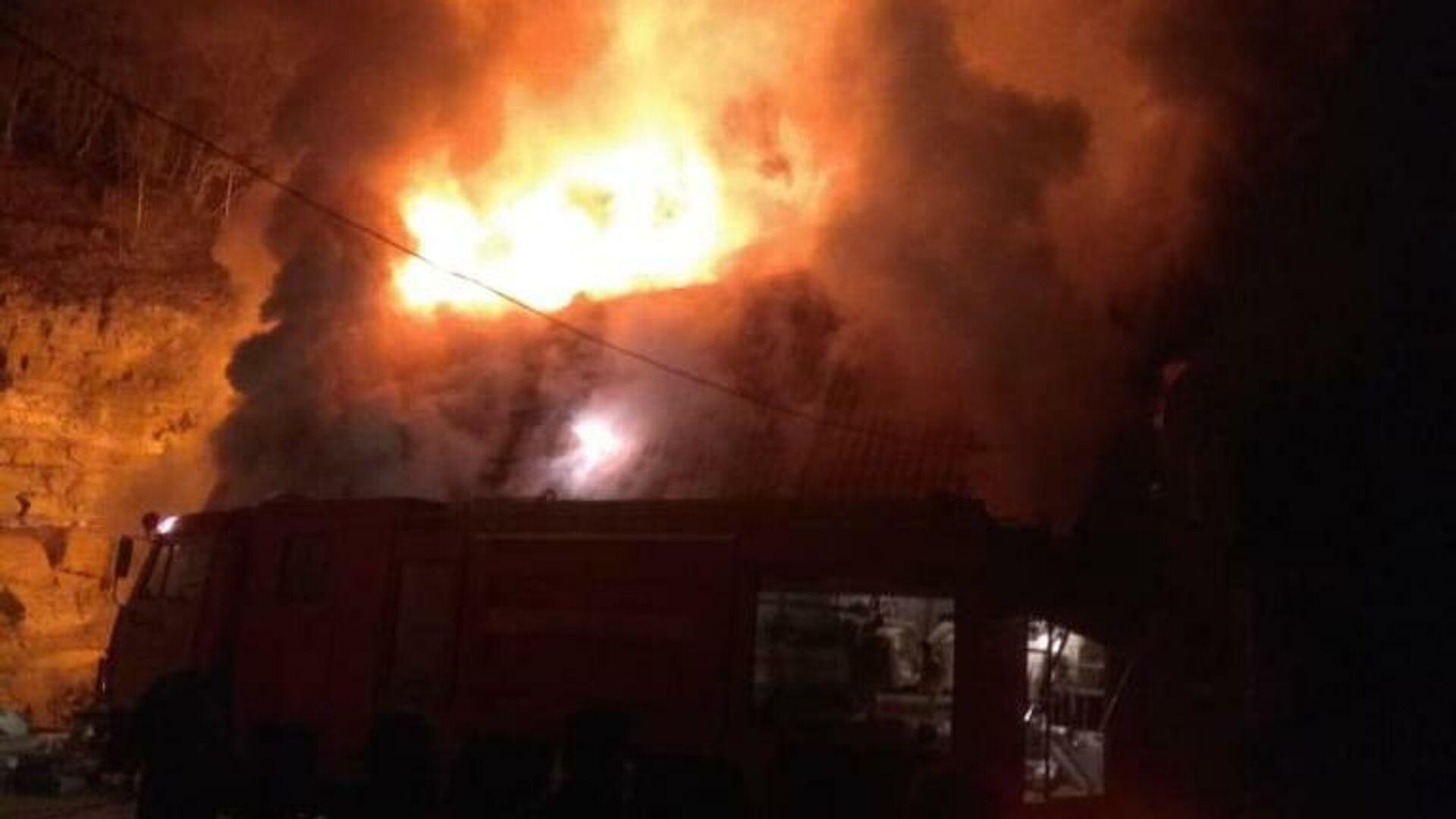 В Крыму потушили пожар на территории Кизилташского монастыря
