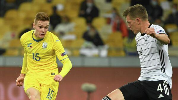 Матч Лиги Наций между сборными Украины и Германии по футболу