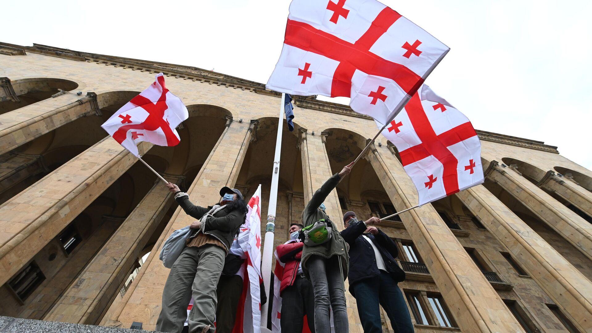 Участники акции оппозиции в Тбилиси - РИА Новости, 1920, 17.02.2021