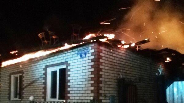Пожар в городе Пласт Челябинской области