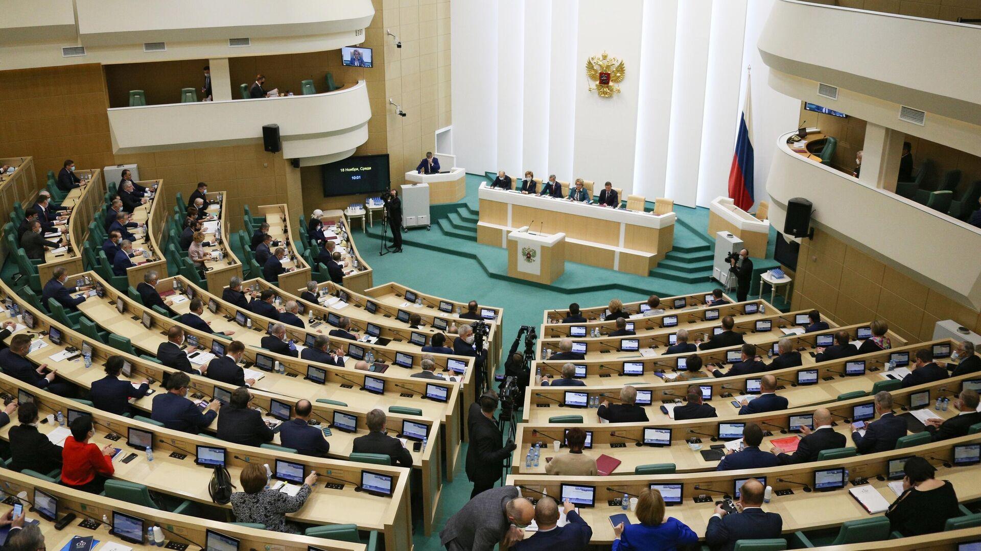 Заседание Совета Федерации РФ - РИА Новости, 1920, 18.01.2021