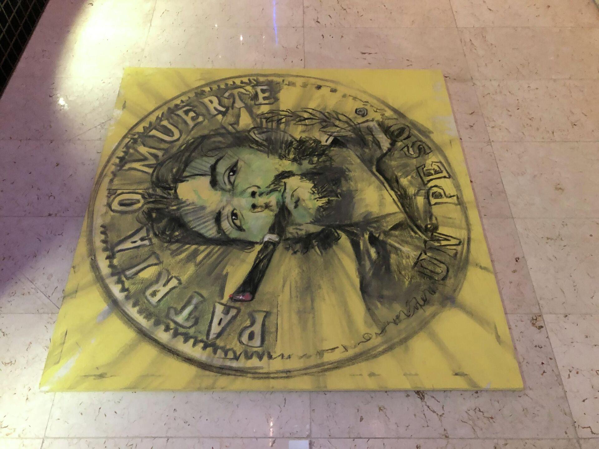 Трафаретный портрет Че Гевары. Гавана.  - РИА Новости, 1920, 18.11.2020