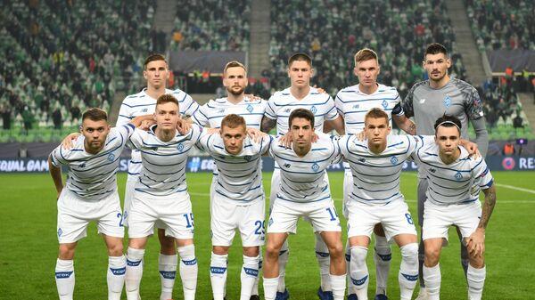 Футболисты киевского Динамо в матче Лиги чемпионов УЕФА