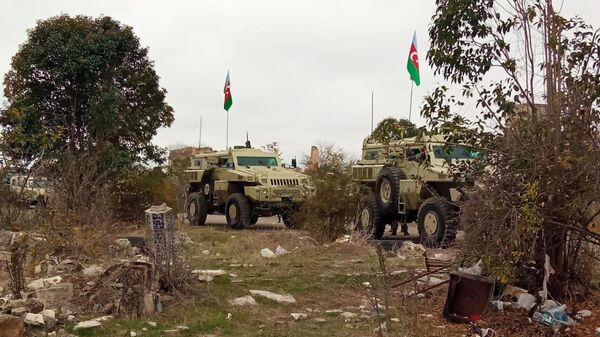 Азербайджанские военные в Агдамском районе