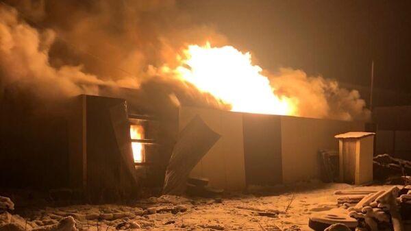Пожар на птицефабрике в Югре