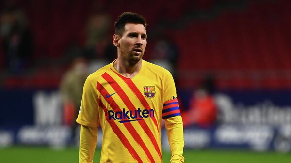 Нападающий Барселоны и сборной Аргентины Лионель Месси