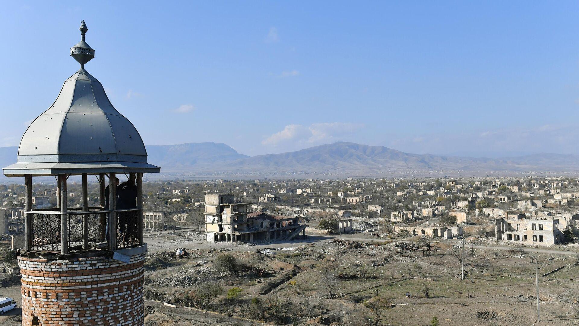 Вид на город Агдам с мечети Джума - РИА Новости, 1920, 17.05.2021