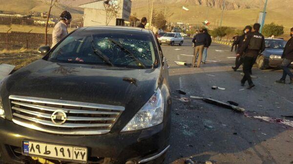 Место убийства ученого-ядерщика Мохсена Фахризаде  в Иране