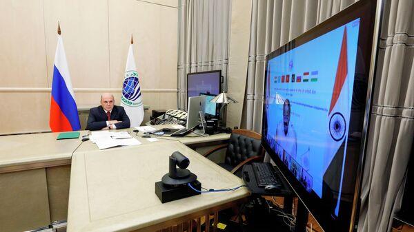 Премьер-министр РФ Ммихаил Мишустин принимает участие в заседании Совета глав правительств государств - членов ШОС