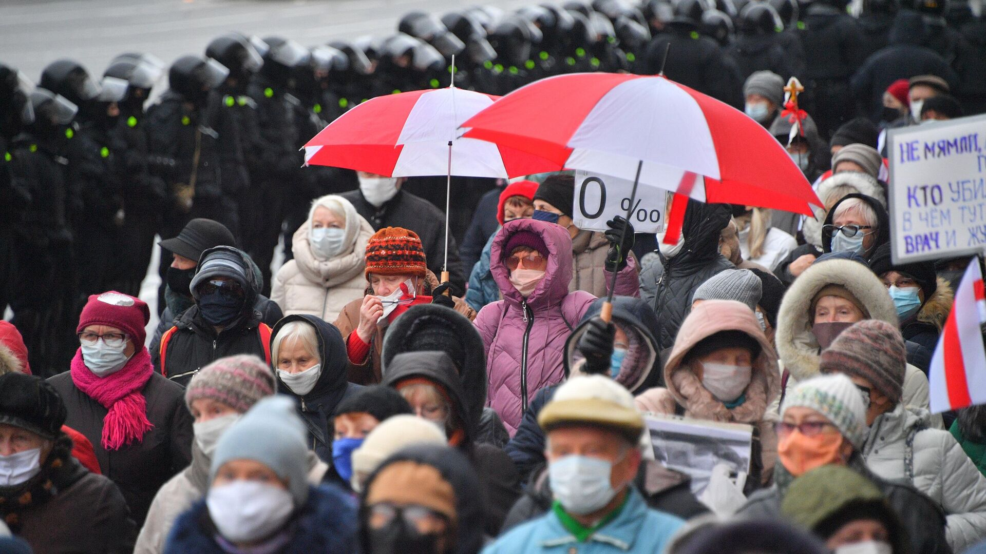 Участники акции протеста пенсионеров Марш мудрости в Минске - РИА Новости, 1920, 14.01.2021