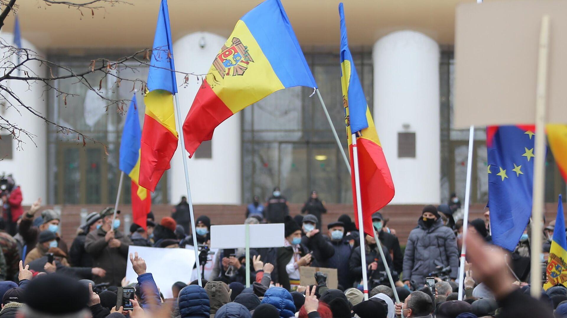 В центре Кишинева завершился митинг с призывом к отставке правительства