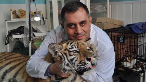 Карен с тигром