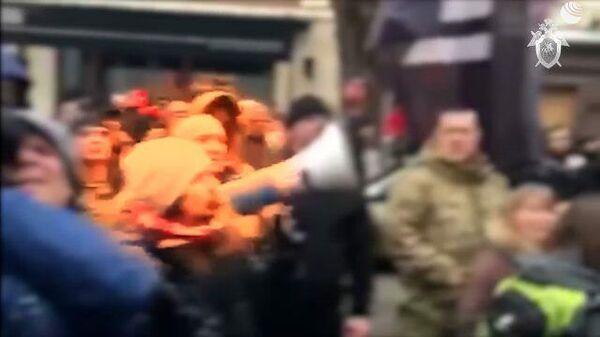 Нападение на Российский центр науки и культуры в Киеве. Кадры СК РФ