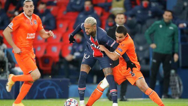 Матч Лиги чемпионов между командами ПСЖ и Истанбул Башакшехир