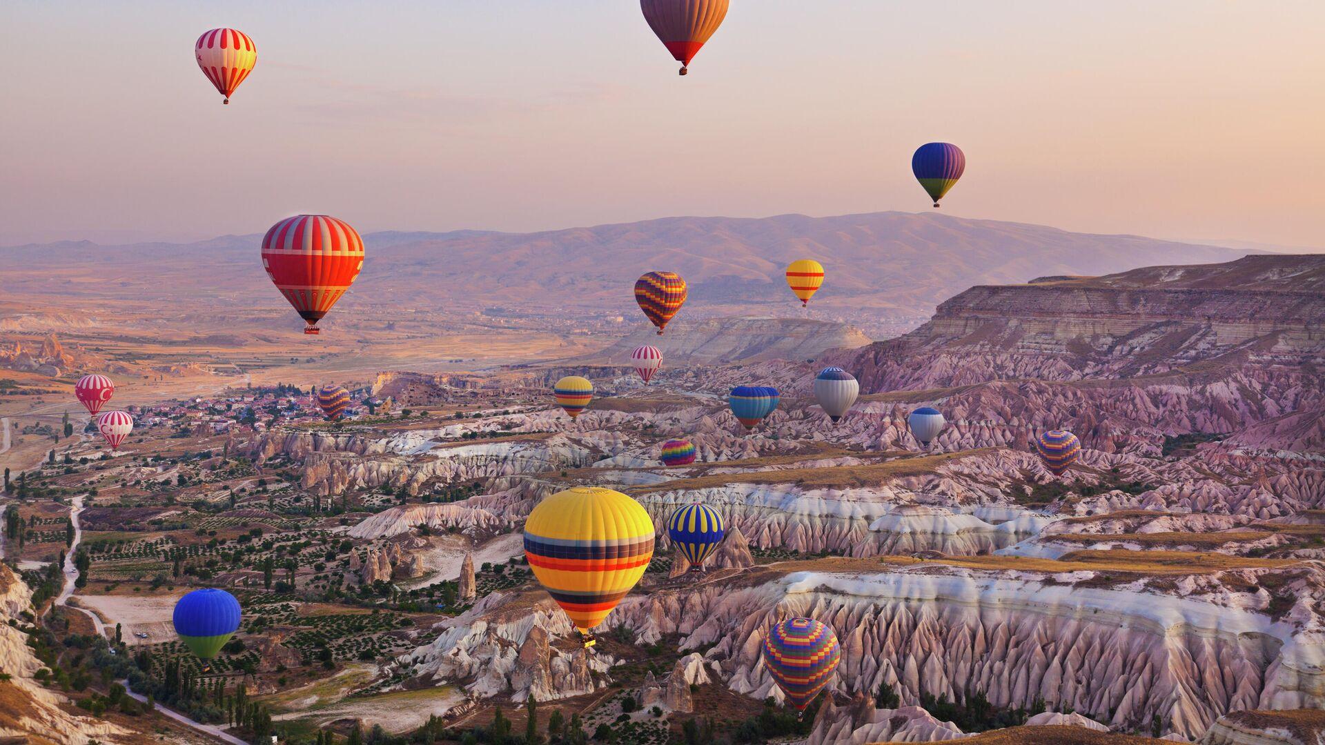 Воздушные шары в Каппадокии, Турция - РИА Новости, 1920, 30.07.2021