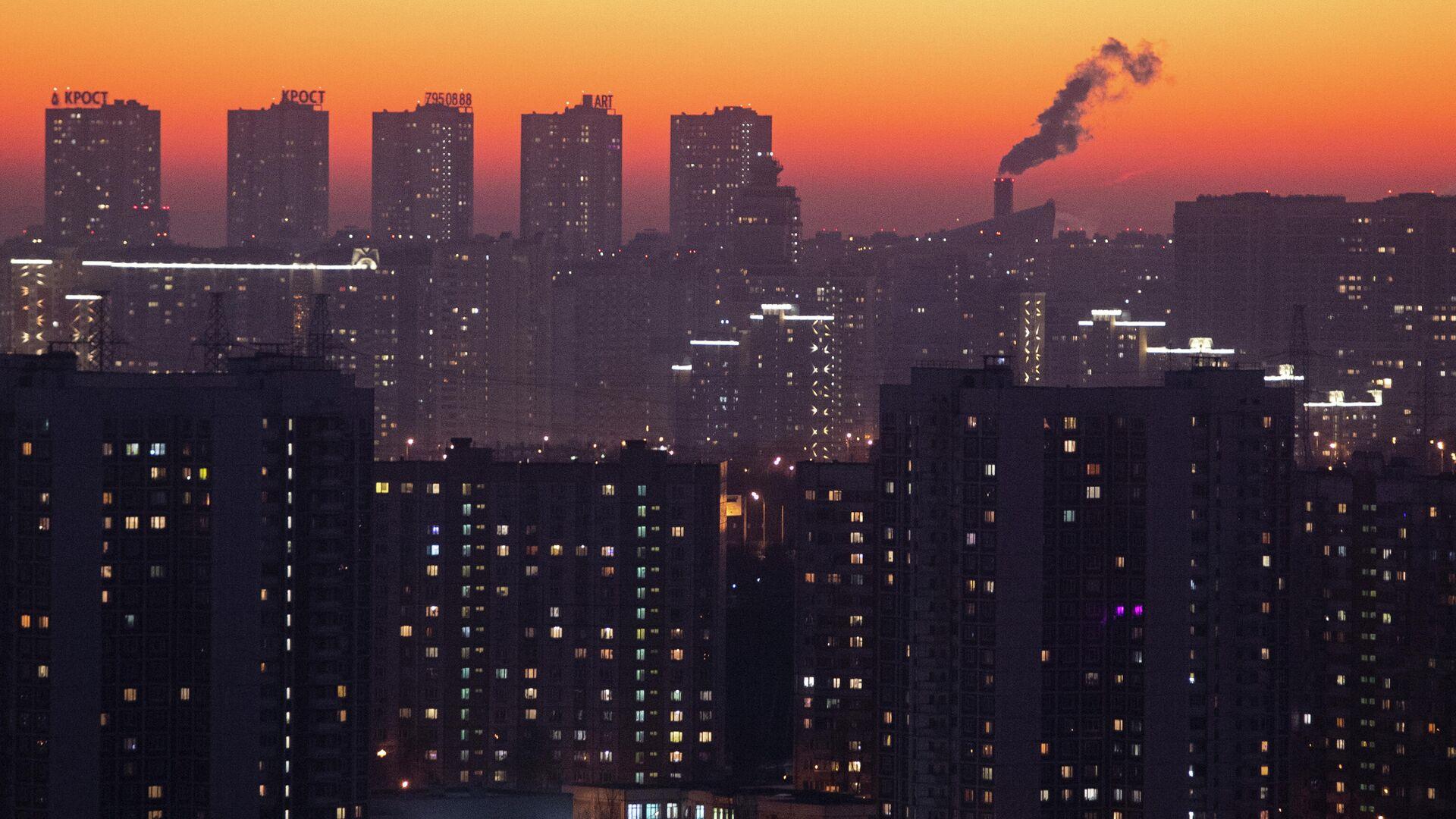 Закат над Москвой - РИА Новости, 1920, 18.02.2021