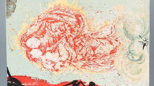 Сальвадор Дали. Гала, моя Сикстинская мадонна. Иллюстрация к роману Дон Кихот. 1957. Бумага, цветная литография
