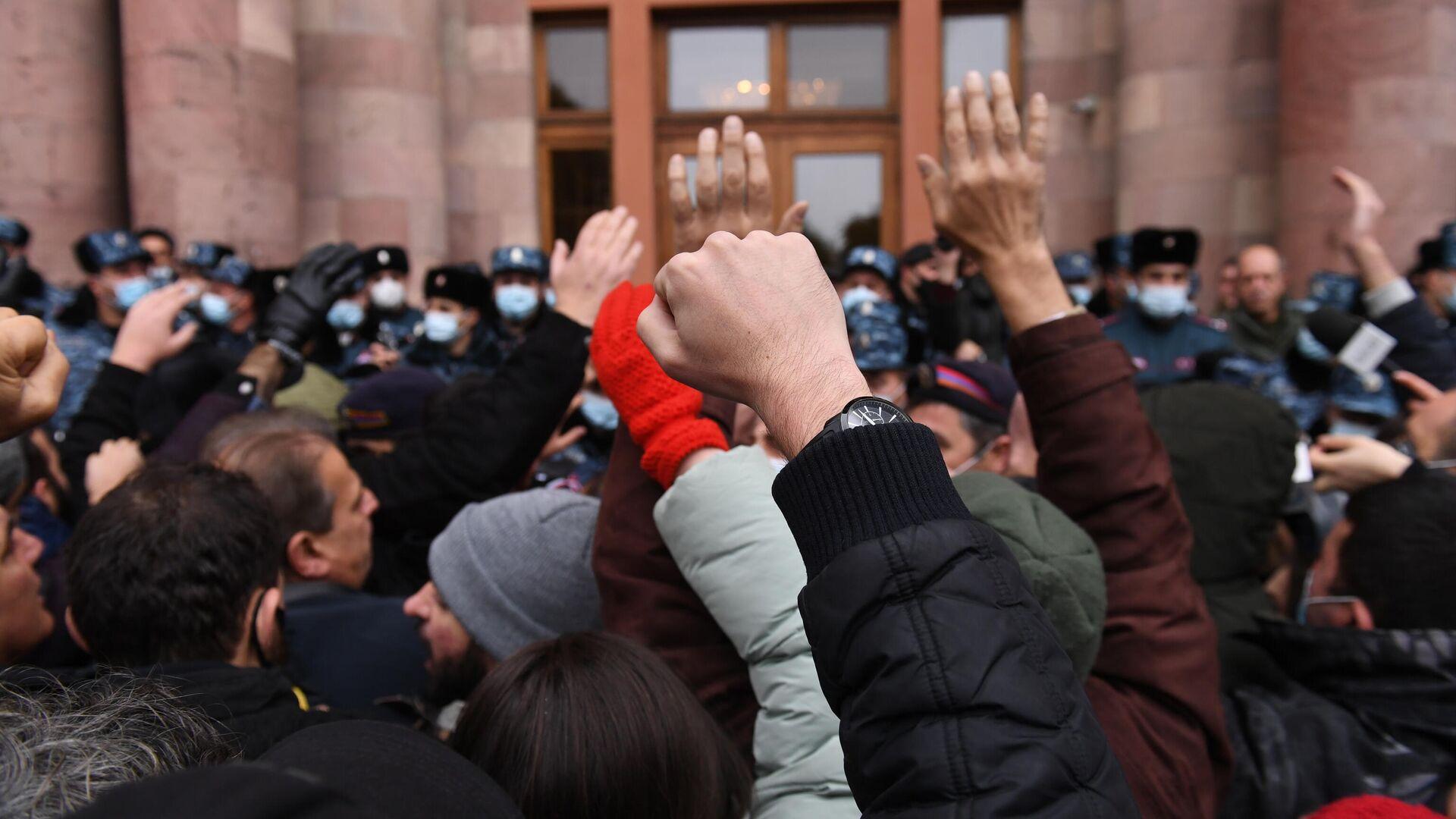 Акция протеста в Ереване - РИА Новости, 1920, 01.03.2021
