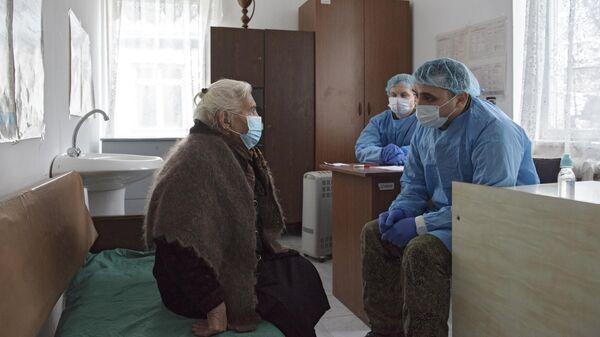 Выездная бригада российских врачей оказывает помощь жителям села Дашбулаг Аскеранского района Нагорного Карабаха