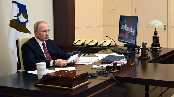 Президент РФ Владимир Путин во время заседания ВЕЭС