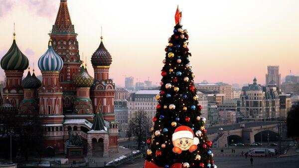 Новогодняя ёлка на Красной площади в Москве
