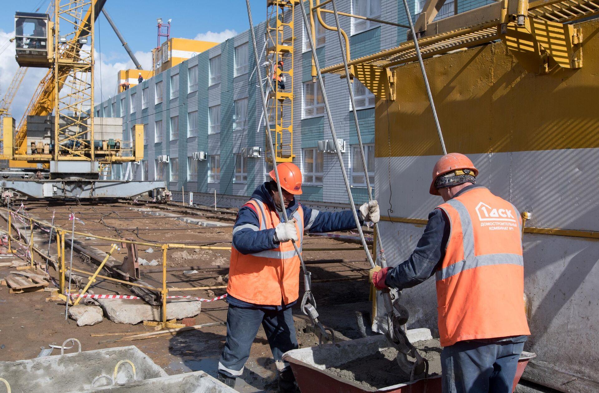 Продолжается строительство инфекционной больницы в Новой Москве - РИА Новости, 1920, 11.12.2020