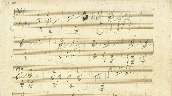 Ноты Лунной сонаты, написанные рукой композитора Людвига ван Бетховена