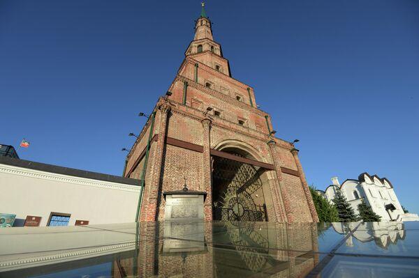 Башня Сююмбике в Казанском Кремле.