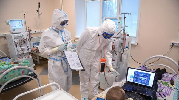 Госпиталь для лечения больных COVID-19 в Тверской областной больнице
