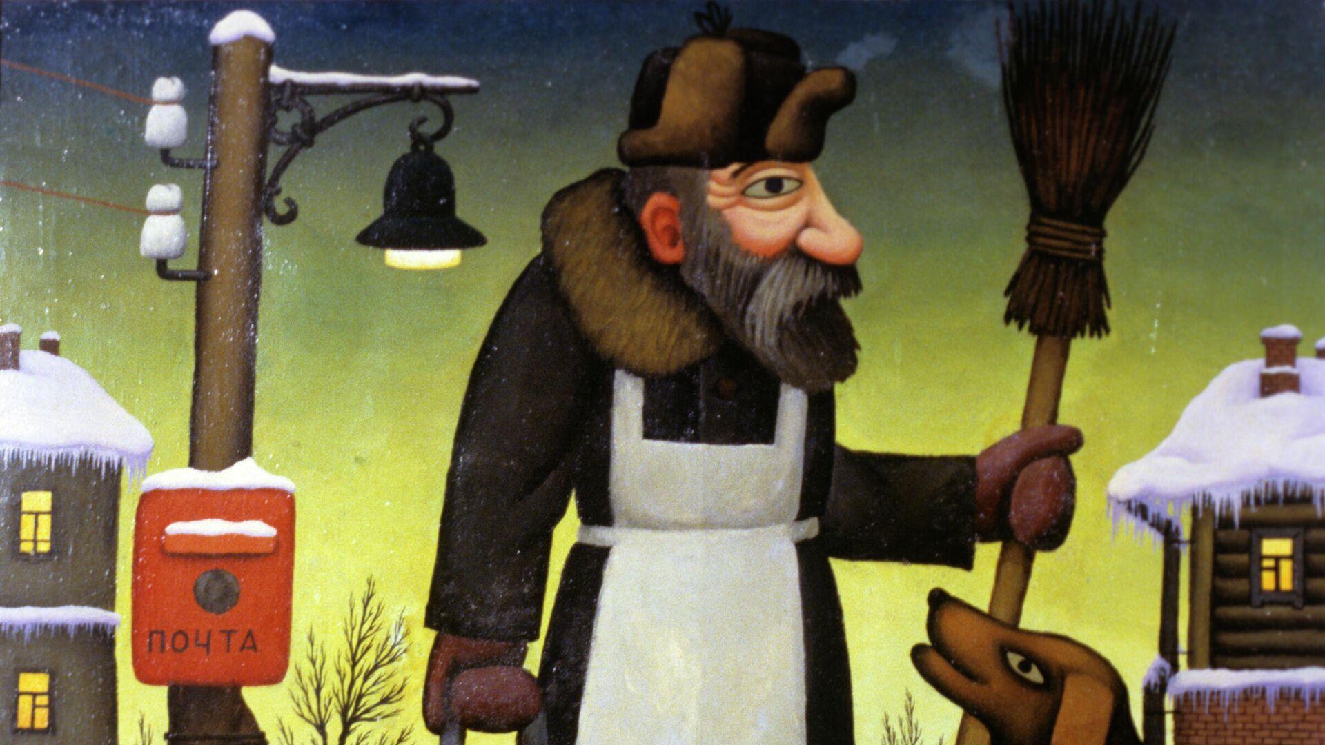Репродукция картины художника Николая Недбайло Дворник Семен. - РИА Новости, 1920, 18.12.2020