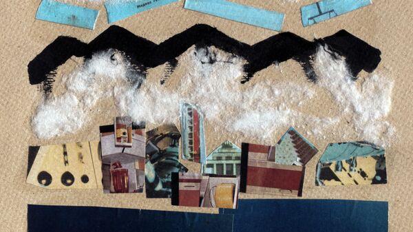 Тимур Новиков Ялта зимой, 1987 картон, коллаж