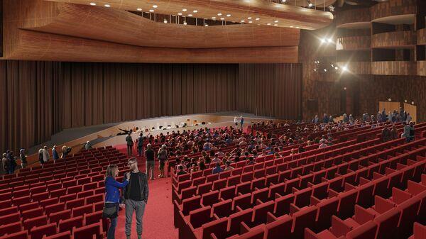 Зрительный зал, проект бюро Rhizome