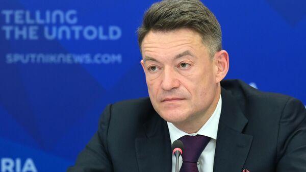 Андрей Каприн во время онлайн-конференции в Международном мультимедийном пресс-центре МИА Россия сегодня