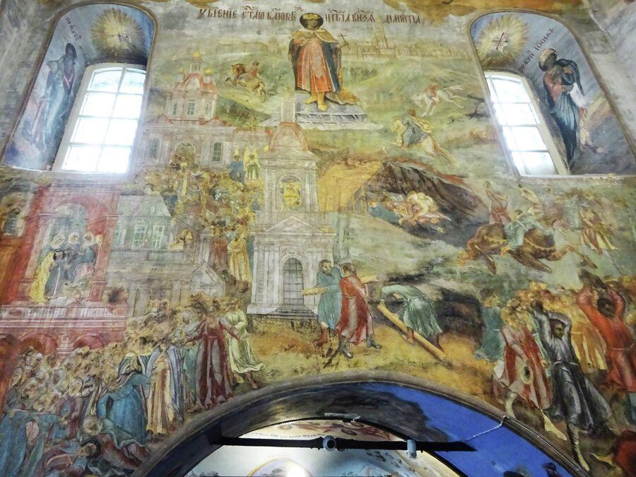 Церковь Димитрия на крови в кремле, росписи
