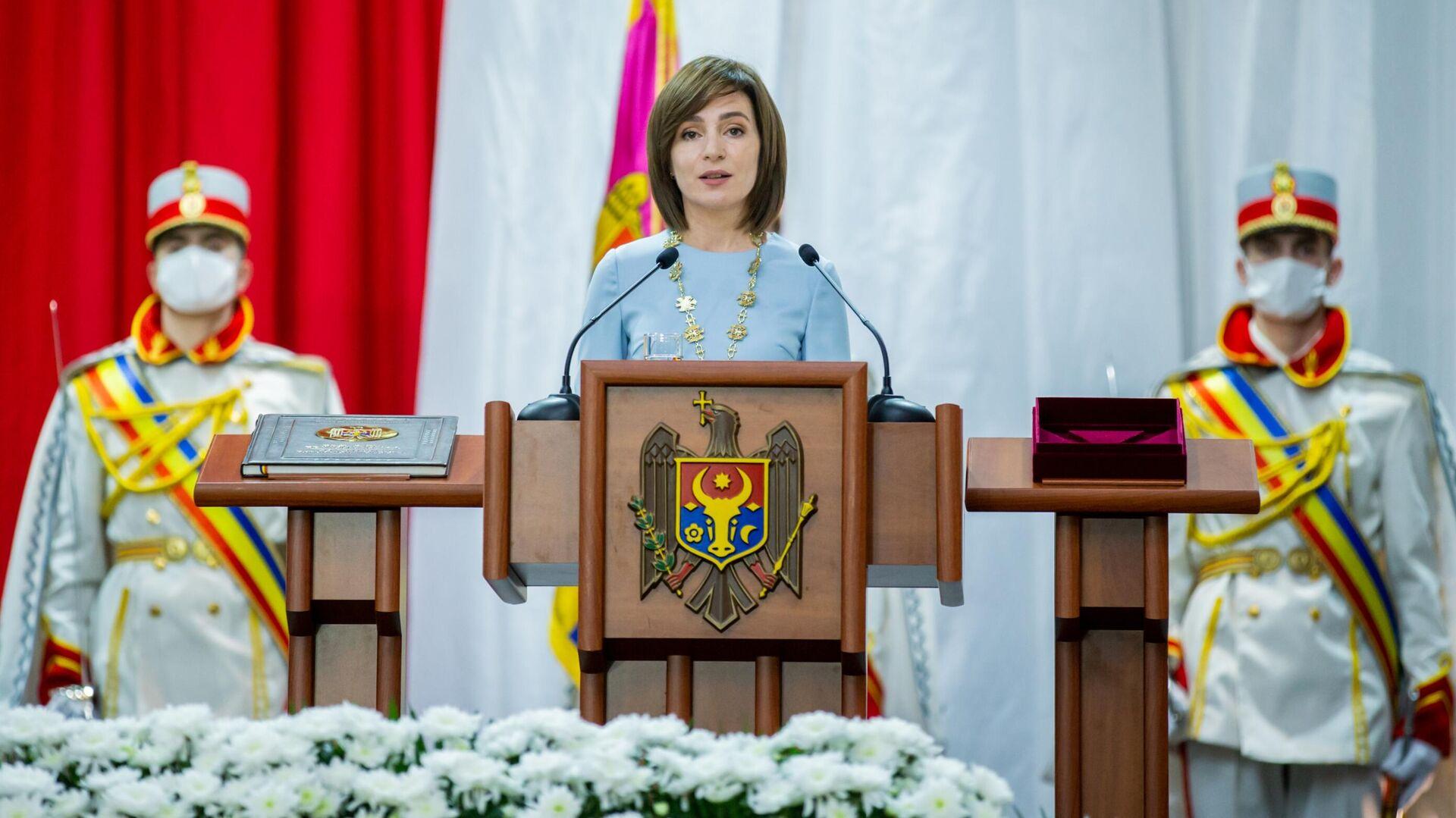 Церемония инаугурации избранного президента Молдавии Майи Санду - РИА Новости, 1920, 25.12.2020