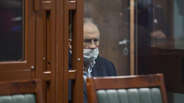 Историк Олег Соколов во время оглашения приговора в зале судебного заседания Октябрьского районного суда Санкт-Петербурга