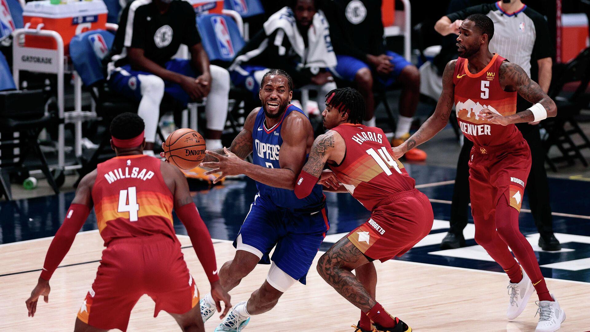 Игровой момент матча НБА Лос-Анджелес Клипперс - Денвер - РИА Новости, 1920, 26.12.2020