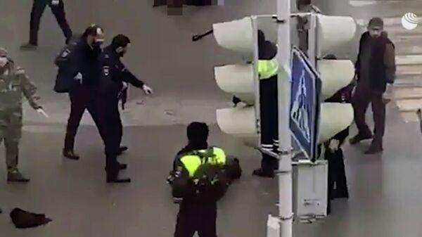 Стрельба в Грозном. Кадр видео очевидцев