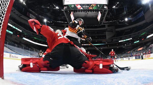 Матч молодежного чемпионата мира по хоккею между сборными Германии и Швейцарии